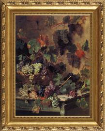 "Harvest in Tuscany - Oreste Costa - Framed Canvas Artwork 0982DB 31.5"" x 39.5"""
