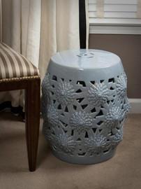 Finely Finished Porcelain Garden Seat - 18 Inch - Polished Celadon Finish