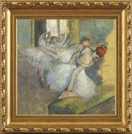 "Ballet Dancers - Edgar Degas - Framed Canvas Artwork 3853DB 43.5"" x 43.5"""