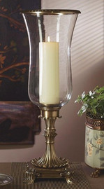 Brass, 24.5t, Footed Oversize, Hurricane Lamp, Antique Brass Finish 1837|952TN