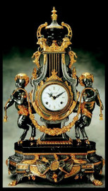 Imperial Antique Gold & Silver Gilt Finish shown on Brass and Marble Clock #9