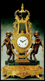 Imperial French Gold Gilt Finish shown on Brass and Marble Clock #9