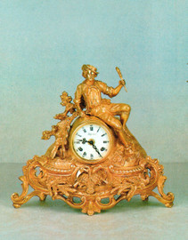 Ornamental d'Oro Ormolu - Desk, Mantel, Table, Louis XV, Rococo Clock - Choose Your Finish - Handmade Reproduction of a 17th, 18th Century Dore Bronze Antique, 6726