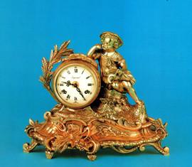 Handmade in Italy - Imperial Fancy d'Oro Ormolu - Desk, Shelf, Mantel, Italian Clock - Choose Your Finish - 11.81t x 5.11d x 14.96w