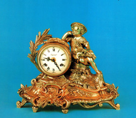 Handmade in Italy - Imperial Fancy d'Oro Ormolu - Desk, Mantel, Table Clock - Choose Your Finish - 11.81t x 5.11d x 14.96w, 1719