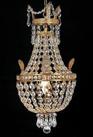 Gold Crystal Pendant Petit Chandelier