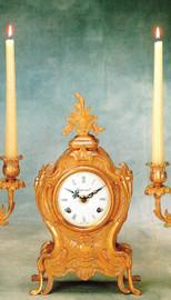 Ornamental d'Oro Ormolu - Desk, Shallow Body Mantel, Table Clock - Choose Your Finish - Handmade Reproduction of a 17th, 18th Century Dore Bronze Antique, 6722