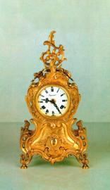 Ornamental d'Oro Ormolu - Desk, Mantel, Table, Cartouche Clock - Choose Your Finish - Louis Quinze - Handmade Reproduction of a 17th, 18th Century Dore Bronze Antique, 6720