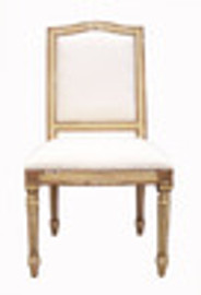 Custom Decorator - Hardwood Hand Carved Reproduction - Louis XVI Style Neo Classical - 40.9 Inch Dining Side Chair - Upholstered Back and Seat