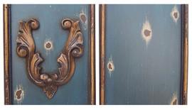 ➨ Custom Decorator Shabby Chic Blue - Night Blue with Antique Gold - Furniture Finish