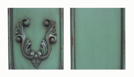 ➨ Custom Decorator Shabby Chic Green - French Light Green Furniture Finish