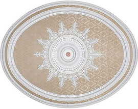 """Architectural Accents - White Damask 79""""L x 63""""w x 3"""" thick, 1287 Oval Decorative Ceiling Medallion"""