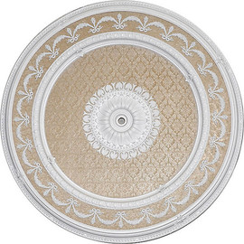 """Architectural Accents - White Damask 63"""" Diameter x 3"""" thick, 1285 Round Decorative Ceiling Medallion"""
