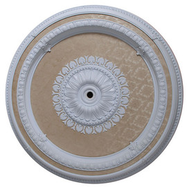 """Architectural Accents - Round 47"""" Diameter x 3"""" thick, 1286 White Damask Decorative Ceiling Medallion"""