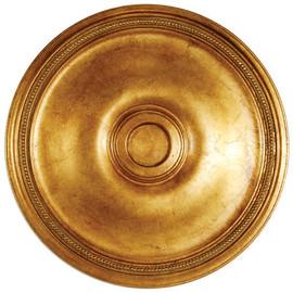 "Architectural Accents - Classic Gold Parcel Gilt - 24"" Diameter x 1.5"" thick, 1280 Round Decorative Ceiling Medallion"