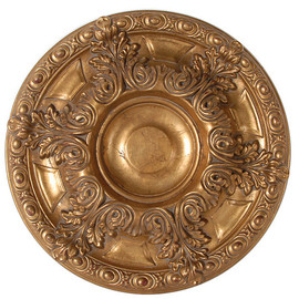 "Architectural Accents Classic Acanthus Leaf - 1279 Round Parcel Gilt Decorative Ceiling Medallion - 23"" Diameter X 2.5"" thick"