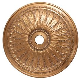 "Architectural Accents Classic Acanthus Leaf - 1278 Round Gilt Decorative Ceiling Medallion - 29"" Diameter X 3"" Thick"
