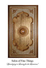 "Architectural Accents Gold Leaf, Rectangular Gilt Decorative Ceiling Medallion, 94""L X 51""w X 3"" Thick"