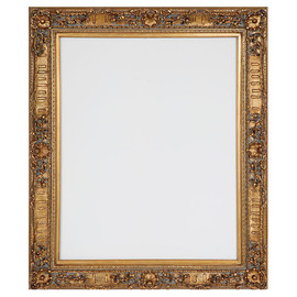 """French Rococo Louis XV Beveled Edge Antique Gold Extra Large Mirror - Scalloped Shell and Floral, 72""""t x 60""""w - Wide 6"""" Carved Frame, 1223"""