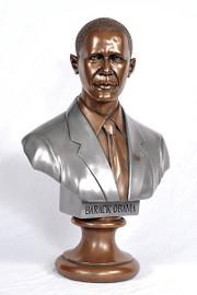 Barack Obama - 29 Inch Sculptural Bust - Special Patina