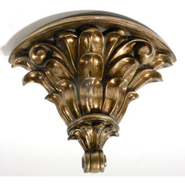 Architectural Accents, Burnished Parcel Gilt 14 Inch Decorative Wall Bracket Sconce