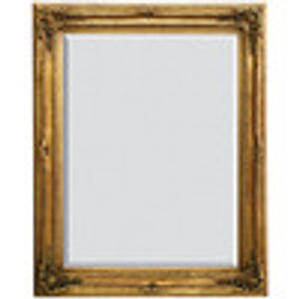 "French Baroque Louis XIV Style, 5.25"" Wide Frame, 59"" Extra Large Soft Gold Leaf Drama Bevel Glass Mirror"