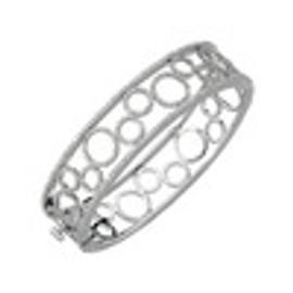 Diamond Circle Bangle Bracelet