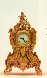 Ornamental d'Oro Ormolu - Mantel, Table, or Desk Clock - Louis XV, Rococo - Choose Your Finish - Handmade Reproduction of a 17th, 18th Century Dore Bronze Antique, 6684