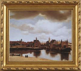 Johannes Vermeer - Vue of Delf - Framed Canvas Artwork