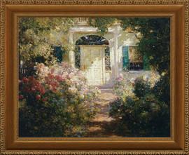 """Doorway and Garden - Abbott Fuller Graves - Framed Canvas Artwork 963 31"""" X 37"""""""