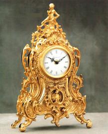 #Ornamental d'Oro Ormolu - Mantel, Table, or Desk Clock - Louis Quinze, Rococo - Choose Your Finish - Handmade Reproduction of a 17th, 18th Century Dore Bronze Antique, 6675