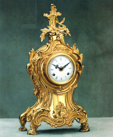 Ornate d'Oro Ormolu - Mantel, Table, or Desk Clock, Louis XV, Rococo - Choose Your Finish - Handmade Reproduction of a 17th, 18th Century Dore Bronze Antique, 6674