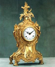 #Ornate d'Oro Ormolu - Mantel, Table, or Desk Clock, Louis XV, Rococo - Choose Your Finish - Handmade Reproduction of a 17th, 18th Century Dore Bronze Antique, 6674