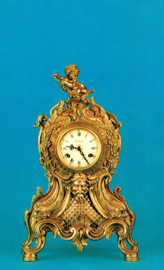 Ornate d'Oro Ormolu - Mantel, Table, or Desk Clock Louis XV, Rococo - Choose Your Finish - Handmade Reproduction of a 17th, 18th Century Dore Bronze Antique, 6672
