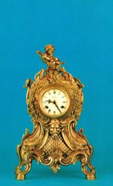 #Ornate d'Oro Ormolu - Mantel, Table, or Desk Clock Louis XV, Rococo - Choose Your Finish - Handmade Reproduction of a 17th, 18th Century Dore Bronze Antique, 6672