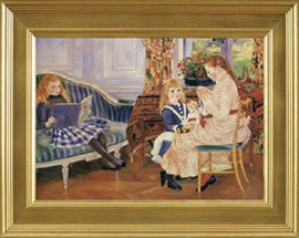"Children's Afternoon - Pierre Auguste Renoir - Framed Canvas Artwork 8832DB 31"" x 25"""