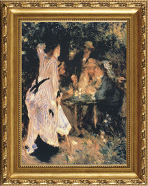 "Au Jardin Du Moulin, 1875 - Pierre Auguste Renoir - Framed Canvas Artwork 864 35.5"" X 29.5"""