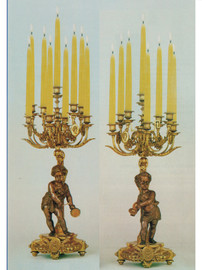 "#79901 29.92"" Right and Left Facing Candelabra Set - Bespoke"