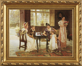 A Time For Roses - Pierre Auguste Renoir - Framed Canvas Artwork 4 sizes available|Click for info