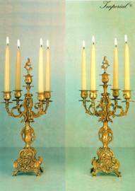 "#Gilt Brass Ormolu, Five light 19.29"" Candelabra Set, French Gold Finish - Handmade Reproduction of a 17th, 18th Century Dore Bronze Antique, 6667"