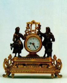 Ornate d'Oro Ormolu - Desk, Mantel, Table Clock - Egyptian Theme - Choose Your Finish - Handmade Reproduction of a 17th, 18th Century Dore Bronze Antique, 6666