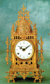 Ornate d'Oro Ormolu - Mantel, Table, or Desk Clock - Choose Your Finish - Handmade Reproduction of a 17th, 18th Century Dore Bronze Antique, 6664