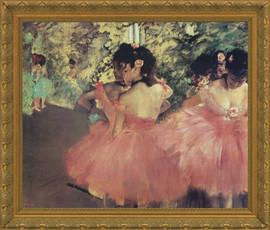 Dancers in Pink - Edgar Degas - Framed Canvas Artwork