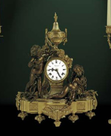Ornate d'Oro Ormolu - Mantel, Table, or Desk Clock - Louis XV, Rococo - Choose Your Finish - Handmade Reproduction of a 17th, 18th Century Dore Bronze Antique, 6662