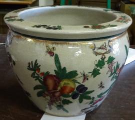 Harvest Fruit - Luxury Handmade Reproduction Chinese Porcelain - 12 Inch Fish Bowl | Fishbowl Planter - Style 35