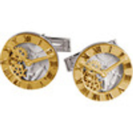 Supreme Sterling Silver 925 | Gold Clock Face Design Cuff Links