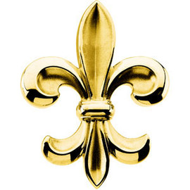 14K Yellow Gold Fleur de Lis Brooch | Lapel Pin