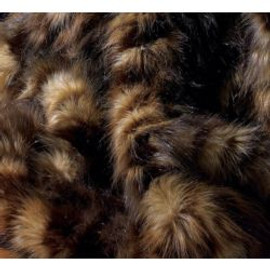 """Dark Spotted Wolf Faux Fur Pet Lounger - Natural look & Luxuriously Soft - 30"""" X 36"""""""