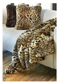 """Leopard Faux Fur Pet Lounger - Natural look & Luxuriously Soft - 30"""" X 36"""""""
