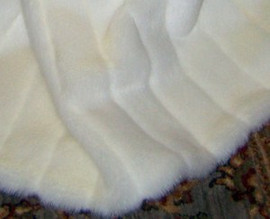 """Winter White Mink Pelted Look Faux Fur Pet Lounger - Natural look & Luxuriously Soft - 30"""" X 36"""""""
